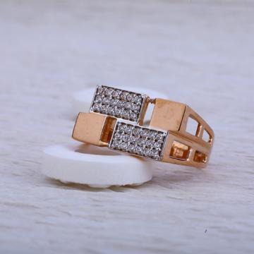 750 Rose Gold Cz Hallmark Ring RMR31