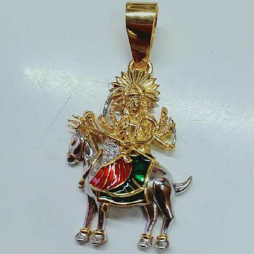 916 Gold Casting Meldi Maa Pendant
