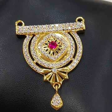 916 Gold 22kt Rubi Diamond Mangalsutra Pendal RH-MSP24