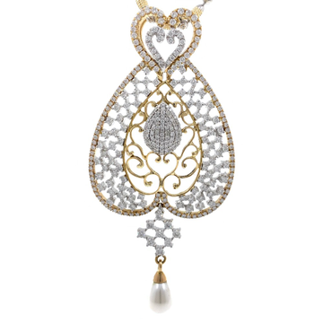 Schitterend diamond pendant in yellow gold 7shp26