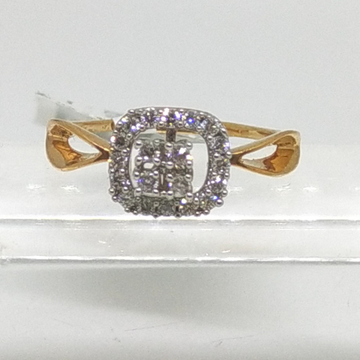 18K rosegold princess ring