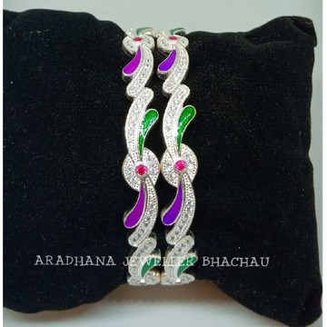 925 Sterling Silver Colorful Bangle