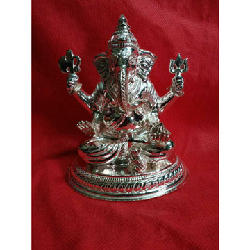 Round(Goal) Plate Cholel nakshi Ganpatiji Murti(Bhagvan,God,Idols) Ms-2335