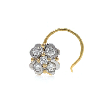 18kt / 750 yellow gold fancy nose pin in diamond 5np199