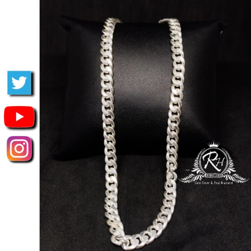 92.5 silver starling double cut curb necklace gents chain rh-CH966