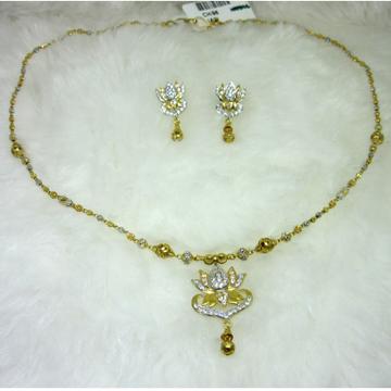 gold 22k HM916 necklace set