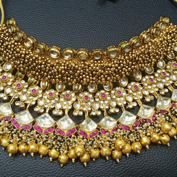 Bridal necklace and choker #bdns084