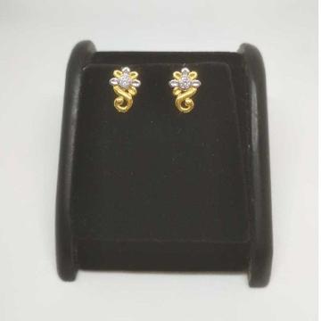 22 K Gold Fancy Earring. NJ-E0933