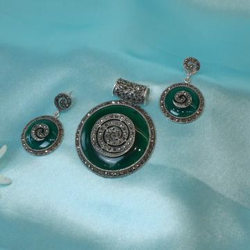 92.5 Silver Turkish Pendent Set