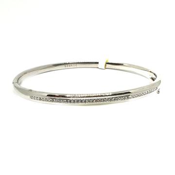 925 Sterling Silver CZ Dimaond Lining Bracelet MGA - BRS0403