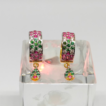 18KT gold fancy colorful earring dj-e011