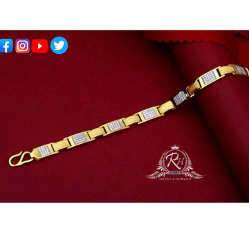 22 carat gold classical gents bracelet RH-GB425