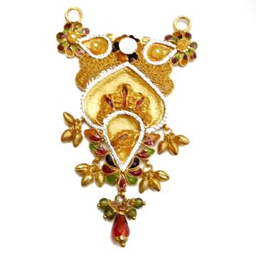 22k Gold Kalkatti Designer Mangalsutra Pendant MGA - MGP021