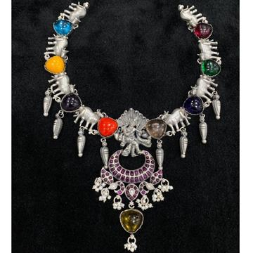 Handicraft pure silver temple haram of goddess vis...