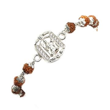 925 Sterling Silver Mahadev Rudraksha Bracelet MGA - BRS0359