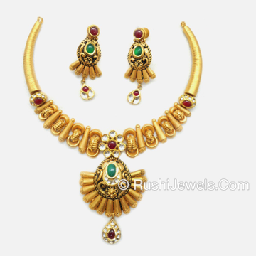 916 Gold Attractive Necklace Set