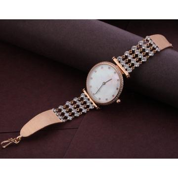 750 Rose Gold Delicate CZ Ladies Watch RLW295