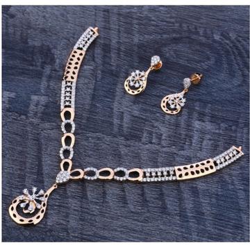 18 carat rose gold delicate hallmark ladies necklace set RH-NC557