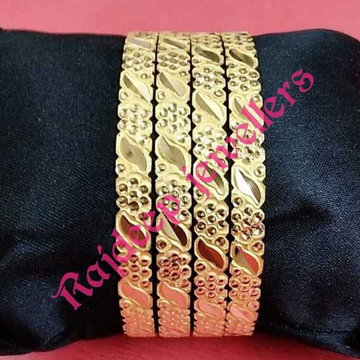 916 Gold Simple Bangles For Ladies