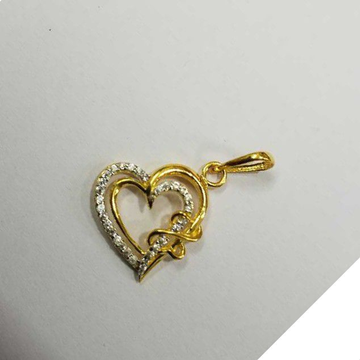 20kt Gold Cz Fancy Pendant