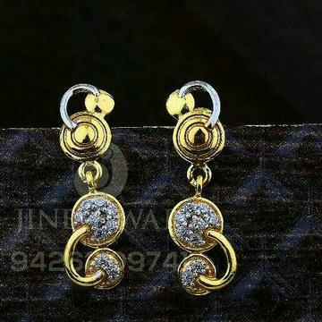 18kt Designer Cz Gold Ladies Tops ATG -0557