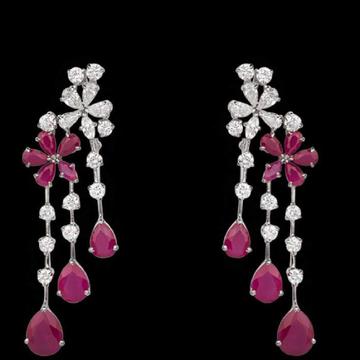 Diamonds and RubyEarringsJSJ0146