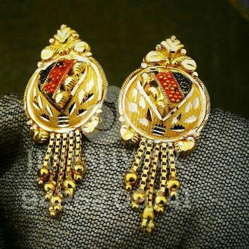 Fancy Plain Gold Set Kalkatti Butti