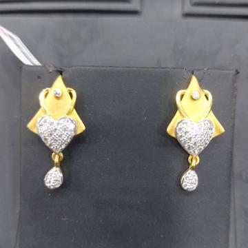 Met finished cz 916 fancy earring by Parshwa Jewellers