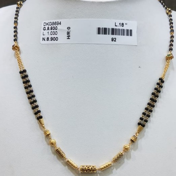 22KT/916 YELLOW GOLD MODERN GREVAI MANGALSUTRA GMS-005