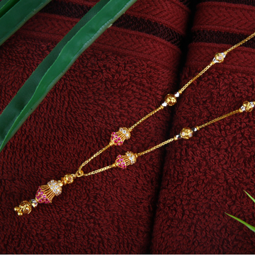 22Kt Gold Fancy Pink Stone Dokiya JJ-N006