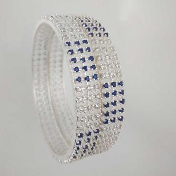 Silver Fancy Diamond Bangle. NJ-B01018