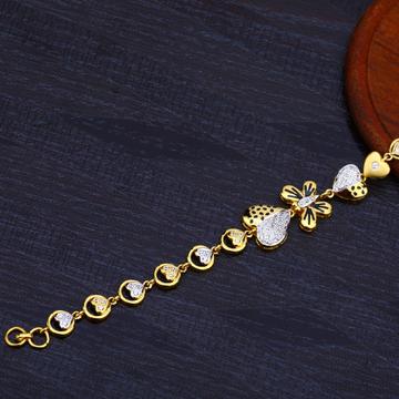 Ladies 916 Gold Fancy Cz Bracelet-LB141