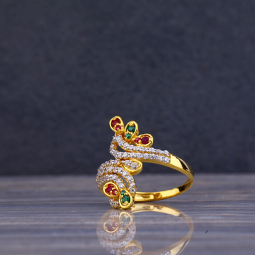 916 Gold Cz Exclusive Ring LLR77