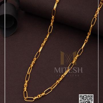 22k/916 antique gold men chain
