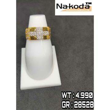 916 Men's multi stone gold ring