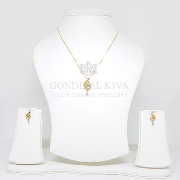 18kt gold pendant set gchp4 - gft17