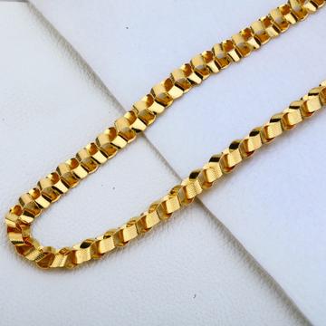 916 Gold Hallmark Fancy Choco Chain MCH193
