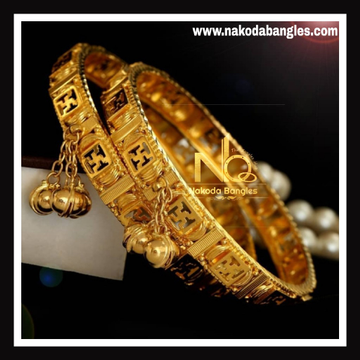 916 Gold Antique Bangles NB - 744
