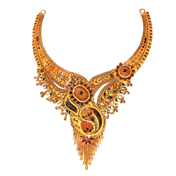 22KT Gold Designer Traditional Necklace