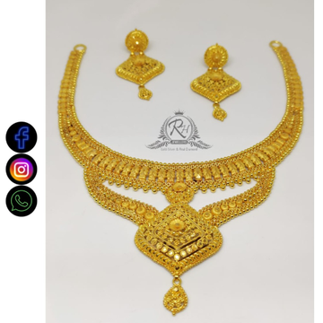 22 carat gold traditional ladies set RH-NS567
