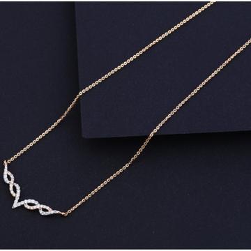 18 carat rose gold designer ladies necklace RH-LN634