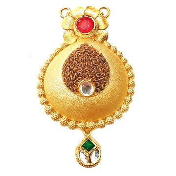 22k Gold Antique Designer Mangalsutra Pendant MGA - GMP014
