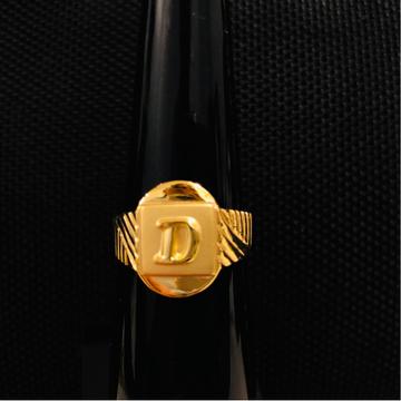 916 Gold Attractive Alphabet D Ring For Men KDJ-R019