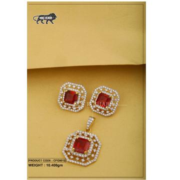 Ladies Colour Stone Pendent Set CPG0012