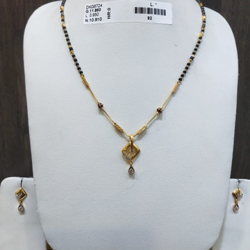 22 KT/916 FANCY KAMINI MANGALSUTRA SET GMS-025