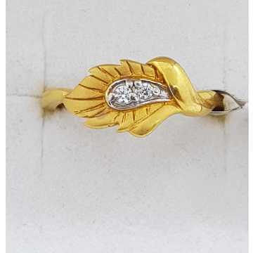 916 Gold leaf Design Ladies Ring SJ-LR/51