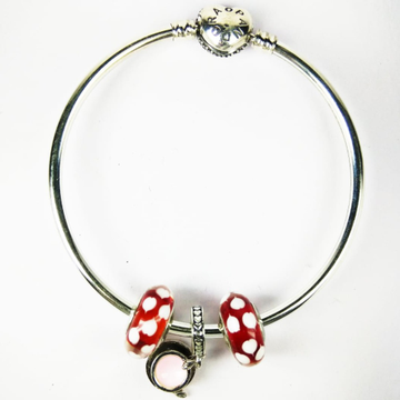 92.5 sterling silver red stone bracelet by