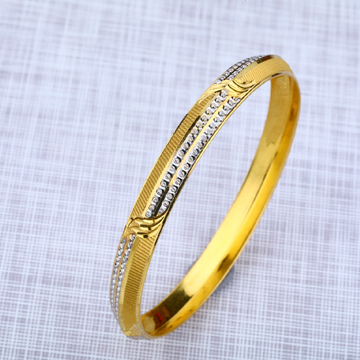 Mens Fancy 22K Gold Punjabi Kada Bracelet-MPKB10
