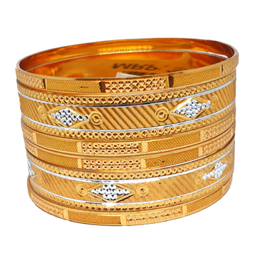 One gram gold forming 6 piece set bangles mga - bge0380