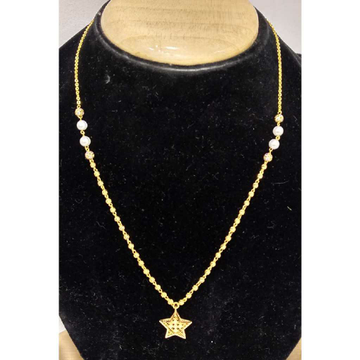 916 Gold Vertical Mala With Star Shaped Pendant by
